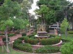 Zahrada v Wat Na Phra Mane