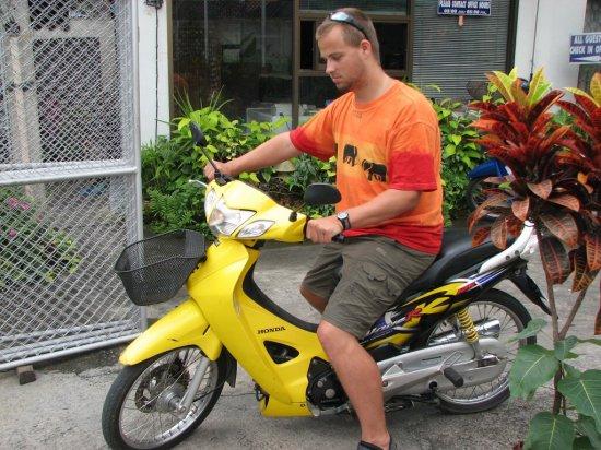 První zkouška motorky