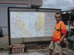 Petík u mapky jižního cípu Thajska
